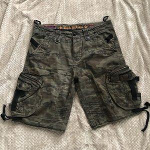 Rock Revival camo cargo shorts